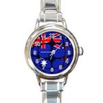 Australia Round Italian Charm Watch