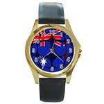 Australia Round Gold Metal Watch