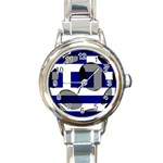 Greece Round Italian Charm Watch