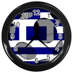 Greece Wall Clock (Black)