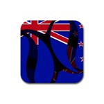 New Zealand Rubber Square Coaster (4 pack)