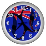 New Zealand Wall Clock (Silver)