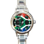 South Africa Round Italian Charm Watch