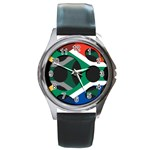 South Africa Round Metal Watch