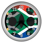 South Africa Wall Clock (Silver)