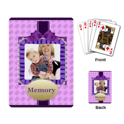 Memory By Joely   Playing Cards Single Design   G0k4paixbwvo   Www Artscow Com Back