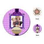 memoy of happy time - Playing Cards (Round)