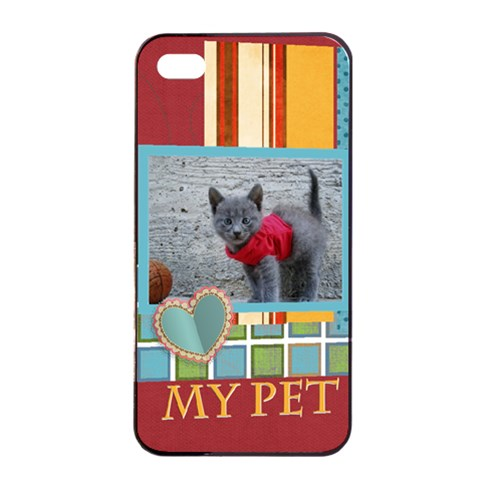 My Pet By Joely   Apple Iphone 4/4s Seamless Case (black)   7dkpbb57h2g7   Www Artscow Com Front