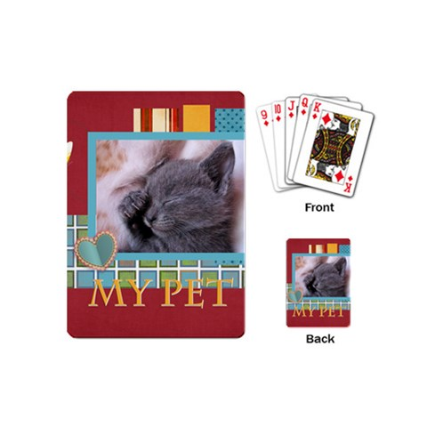 My Pet By Joely   Playing Cards (mini)   5uksrjy2zjo7   Www Artscow Com Back