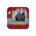 my pets - Rubber Coaster (Square)