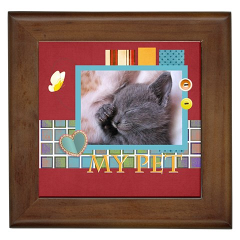 My Pets By Joely   Framed Tile   Yrs3aoebqzae   Www Artscow Com Front