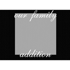 Our Family Addition By Lmrt   Girl 3d Greeting Card (7x5)   Kp7e7acgnidl   Www Artscow Com Front