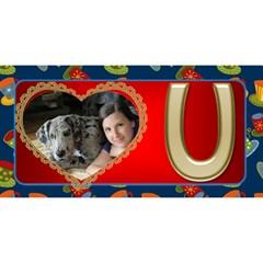 Love You Dad 3d Card By Deborah   #1 Dad 3d Greeting Card (8x4)   Geor6ell1xun   Www Artscow Com Front