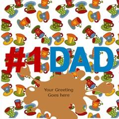 Love You Dad 3d Card By Deborah   #1 Dad 3d Greeting Card (8x4)   Geor6ell1xun   Www Artscow Com Inside