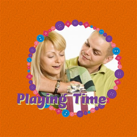 Playing Time By May   Scrapbook Page 8  X 8    Ck13v4f5ioq9   Www Artscow Com 8 x8 Scrapbook Page - 1