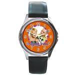 playing time - Round Metal Watch