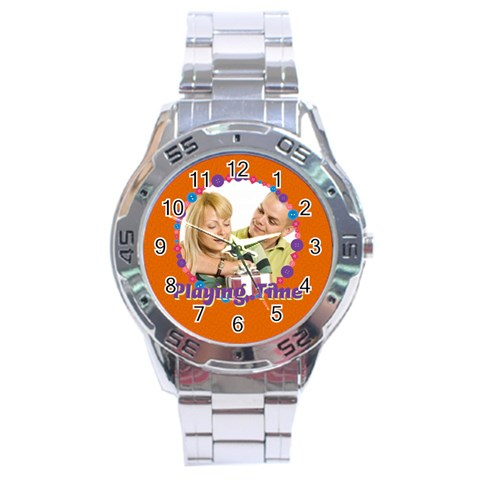 Playing Time By May   Stainless Steel Analogue Watch   67hmswyk1g31   Www Artscow Com Front