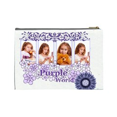 Purple By Joely   Cosmetic Bag (large)   Bp9bgj38zo3v   Www Artscow Com Back