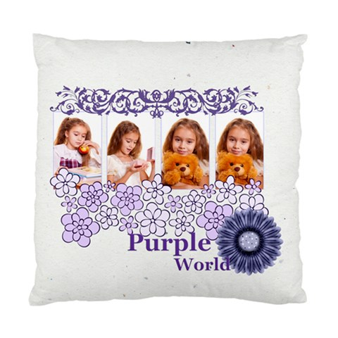 Purple By Joely   Standard Cushion Case (one Side)   9vjjln9rsg1c   Www Artscow Com Front