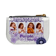 Purple By Joely   Mini Coin Purse   Qjwmf95rihka   Www Artscow Com Back