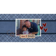3d Card  No 1 Dad By Jennyl   #1 Dad 3d Greeting Card (8x4)   Mabgfst4t1aa   Www Artscow Com Front