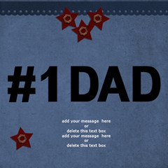 3d Card  No 1 Dad By Jennyl   #1 Dad 3d Greeting Card (8x4)   Mabgfst4t1aa   Www Artscow Com Inside