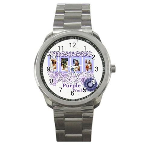 Purple By Joely   Sport Metal Watch   Evplziflv7nd   Www Artscow Com Front