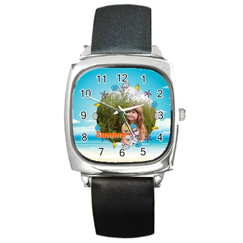 Summer By May   Square Metal Watch   V0doierw0tuw   Www Artscow Com Front