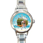 summer - Round Italian Charm Watch