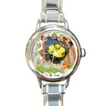 kids of playing - Round Italian Charm Watch