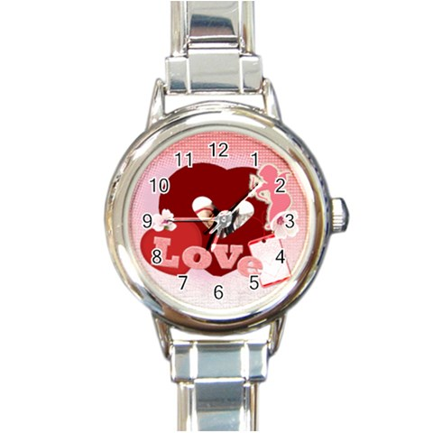 Love By Wood Johnson   Round Italian Charm Watch   75hb8bicddx1   Www Artscow Com Front