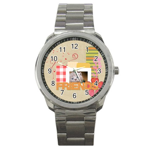 Friendship By Joely   Sport Metal Watch   Izrct3qda6if   Www Artscow Com Front