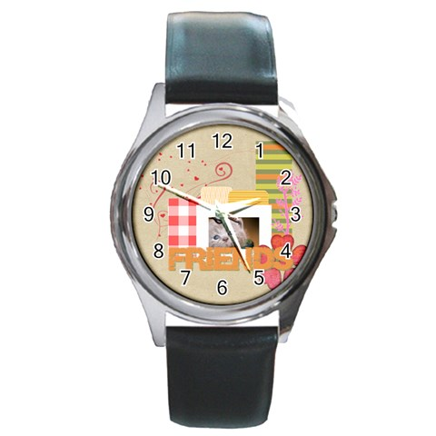 Friends By Joely   Round Metal Watch   Rt8kpsvwqxq5   Www Artscow Com Front