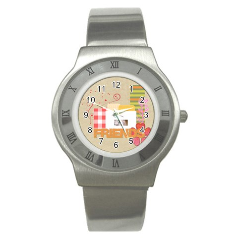 Friends By Joely   Stainless Steel Watch   Um3fnq7b8qk3   Www Artscow Com Front