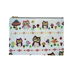 Owls By Sherry Olford   Cosmetic Bag (large)   Aivw67yfvers   Www Artscow Com Front