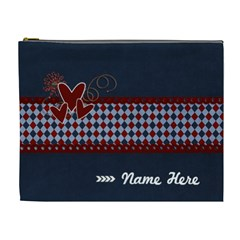 Xl   Cosmetic Bag   Red And Blue By Jennyl   Cosmetic Bag (xl)   5y1vb312job4   Www Artscow Com Front