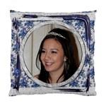 Blue Floral Cushion  cover single side - Standard Cushion Case (One Side)