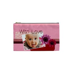 With Love By Joely   Cosmetic Bag (small)   B0m45f0qet9g   Www Artscow Com Front