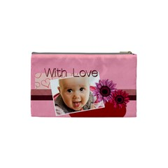 With Love By Joely   Cosmetic Bag (small)   B0m45f0qet9g   Www Artscow Com Back