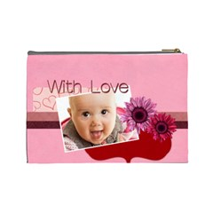 With Love By Joely   Cosmetic Bag (large)   Sdkchd0891dg   Www Artscow Com Back
