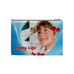 Happy Life By May   Cosmetic Bag (medium)   Timecdbtvbwc   Www Artscow Com Back