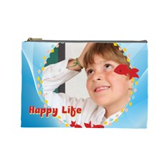 Happy Life By May   Cosmetic Bag (large)   6idyk5io7g4x   Www Artscow Com Front