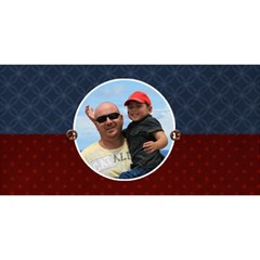 3d Card: Dad  Red And Blue By Jennyl   #1 Dad 3d Greeting Card (8x4)   Neufgerh737h   Www Artscow Com Front