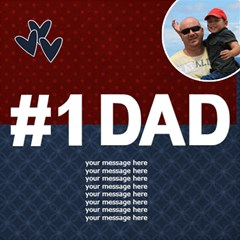 3d Card: Dad  Red And Blue By Jennyl   #1 Dad 3d Greeting Card (8x4)   Neufgerh737h   Www Artscow Com Inside