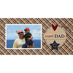 3d Card: Dad 3 By Jennyl   #1 Dad 3d Greeting Card (8x4)   47wbmjlcajhn   Www Artscow Com Front