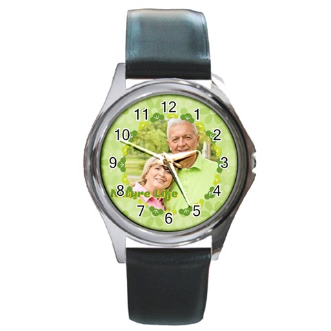 Nature Life By May   Round Metal Watch   Wz0hc9lhsawq   Www Artscow Com Front