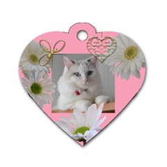 Sweet Heart Dog Tag (2 Sided) By Deborah   Dog Tag Heart (two Sides)   7nmykghmmqty   Www Artscow Com Front
