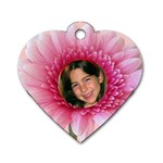 Petal Heart Dog Tag (2 Sided) - Dog Tag Heart (Two Sides)