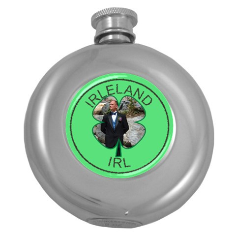 I Love Ireland Flask By Deborah   Hip Flask (5 Oz)   P3hjrl5m4si5   Www Artscow Com Front