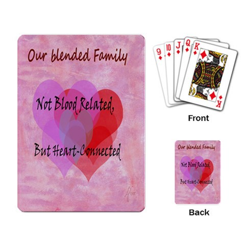 Blended Family Playing Cards By Anne Bruno   Playing Cards Single Design   5o6huz5ecqgm   Www Artscow Com Back